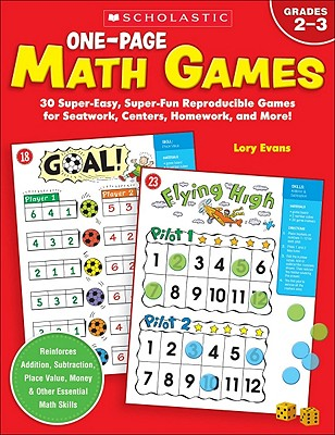 One-Page Math Games By Evans, Lory